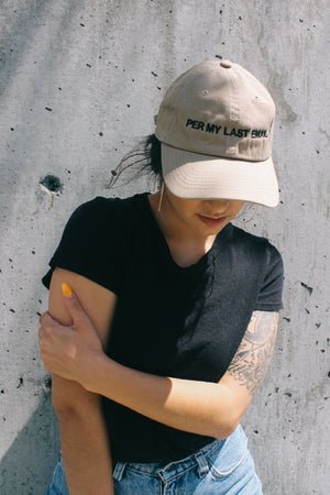 Per my last email embroidered tan hat |  PIPE AND ROW