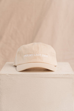 Per my last email embroidered hat sand tan | PIPE AND ROW boutique seattle