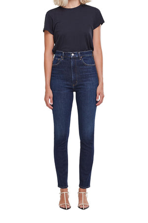 PINCH WAIST HIGH RISE SKINNY
