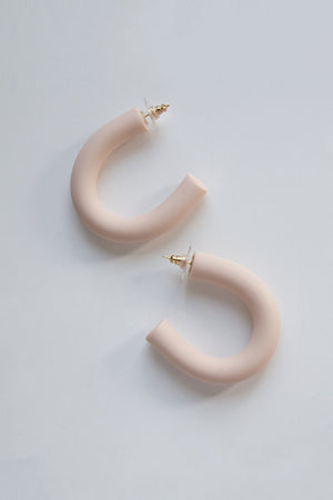 CIRCLET HOOP EARRINGS pink clay modern Sea + Pattern | Pipe and Row Seattle