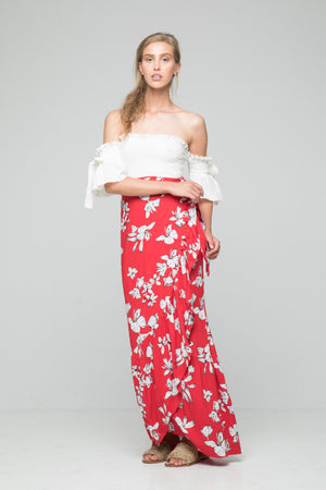 port crop top off shoulder white rue stiic | pipe and row