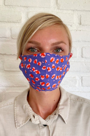 Rue Stiic spring leopard purple pink red face mask HanDmade in Bali dead stock fabric woman owned | pipe and row boutique