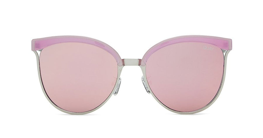 quay stardust sunglasses pink silver retro | pipe and row