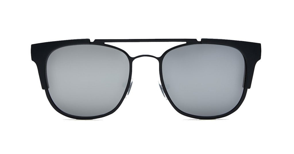 quay high and dry black silver mirrored sunnies | pipe and row boutique