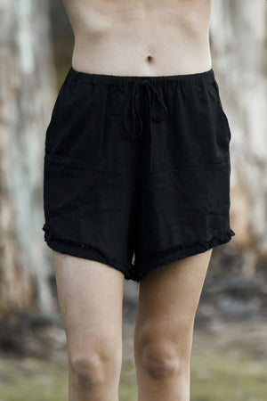 RUE STIIC RAMBLA BLACK LINEN SHORTS | PIPE AND ROW