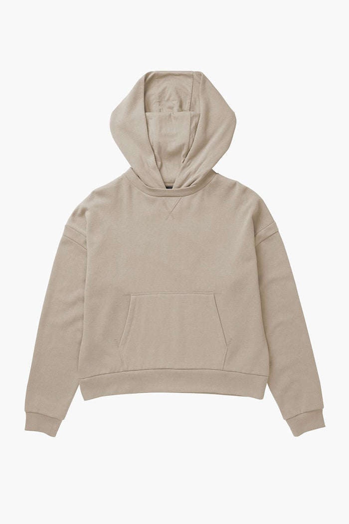Richer Poorer recycled pullover fleece hoodie tan sandstorm | pipe and row
