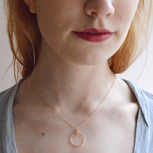 reine necklace gold model fresh tangerine | pipe and row boutique
