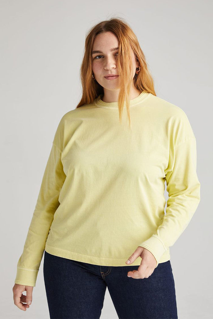 Richer Poorer relaxed thick long sleeve pullover pale green | Pipe and Row