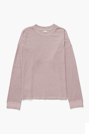 RELAXED LONG SLEEVE PULLOVER SOFT MAUVE