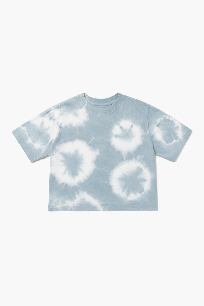 Richer Poorer relaxed short sleeve crop tee blue mirage wash tie dye | pipe and row