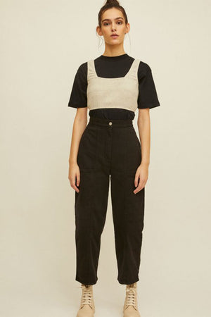 Rita Row Rene high waist cargo trousers jeans in black | Pipe and ROw