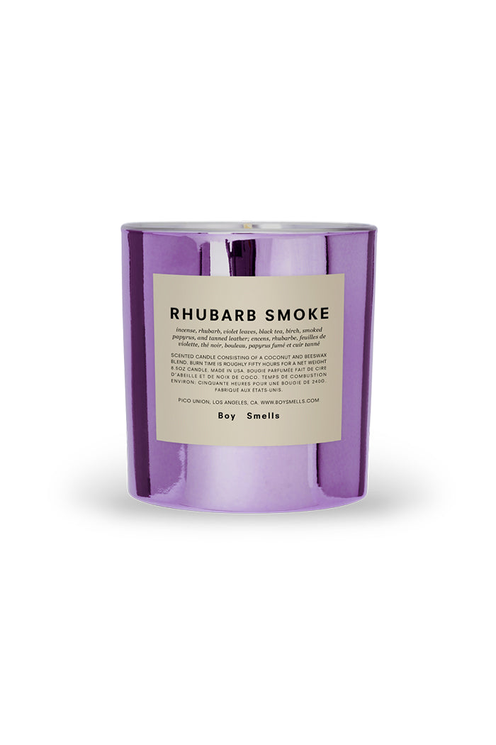 Boy Smells Rhubarb Smoke special edition candle Hypernature collection | pipe and row'