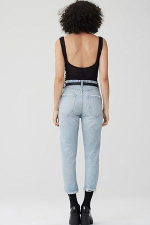 riley hi rise crop jean vanished agolde | pipe and row