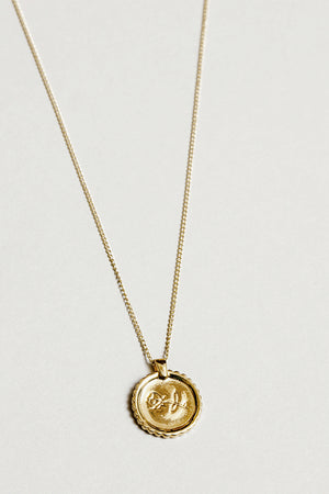 Wolf Circus engraved dainty Rosie coin necklace | pipe and row boutique