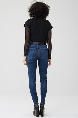 roxanne super high rise skinny jeans dark wash agolde | pipe and row
