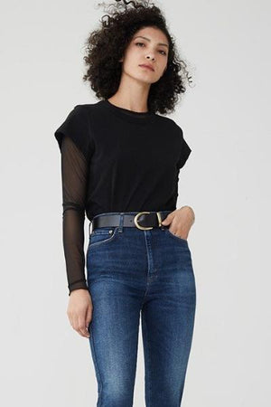 roxanne skinny jean super high rise indigo agolde | pipe and row