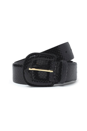 Paloma Wool sustainable Scott leather belt snake black | Pipe and row boutique