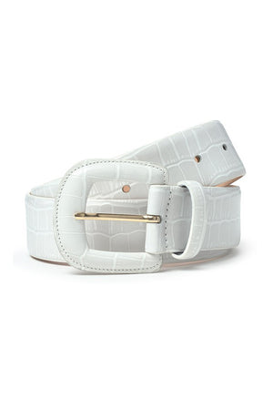 Paloma Wool sustainable Scott leather belt croc embossed  | Pipe and row boutique