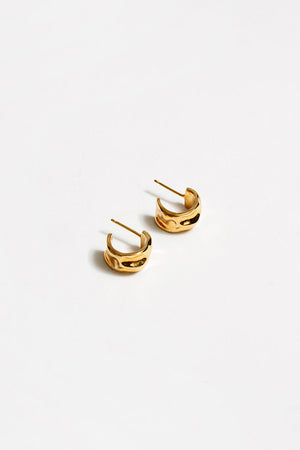 Wolf Circus Selma organic textured gold hoops | pipe and row boutique