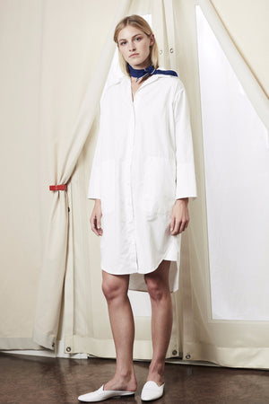 shirt dress white achro | pipe and row