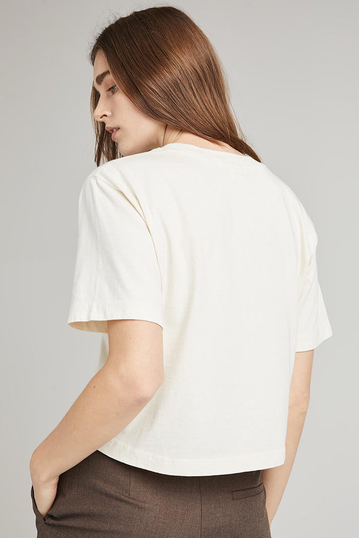 Richer Poorer pale green relaxed short sleeve crop tee cotton | Pipe and Row