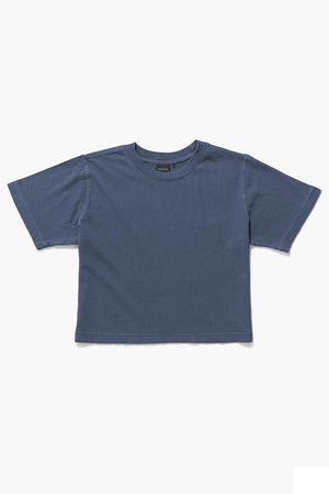 Richer Poorer relaxed short sleeve crop tee blue night | pipe and row