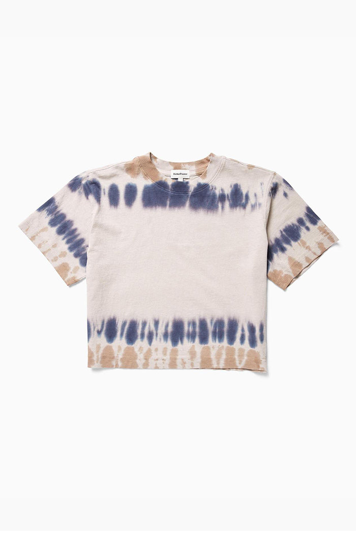 SHORT SLEEVE CROP TEE TIE DYE