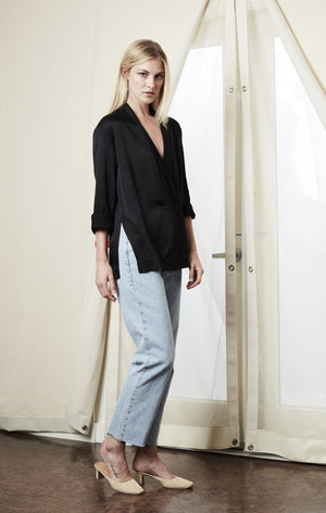 side slit blazer button black achro | pipe and row seattle
