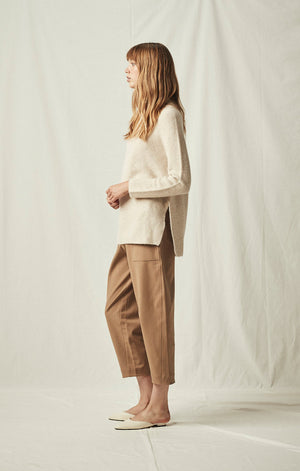 side slit whole garment pullover oatmeal | pipe and row boutique seattle