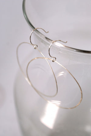 Simple Hammered Hoop Earrings Sterling Silver | Pipe and Row Seattle Boutique