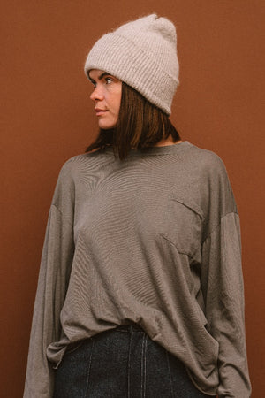 SMITH BEANIE LIGHT GREY