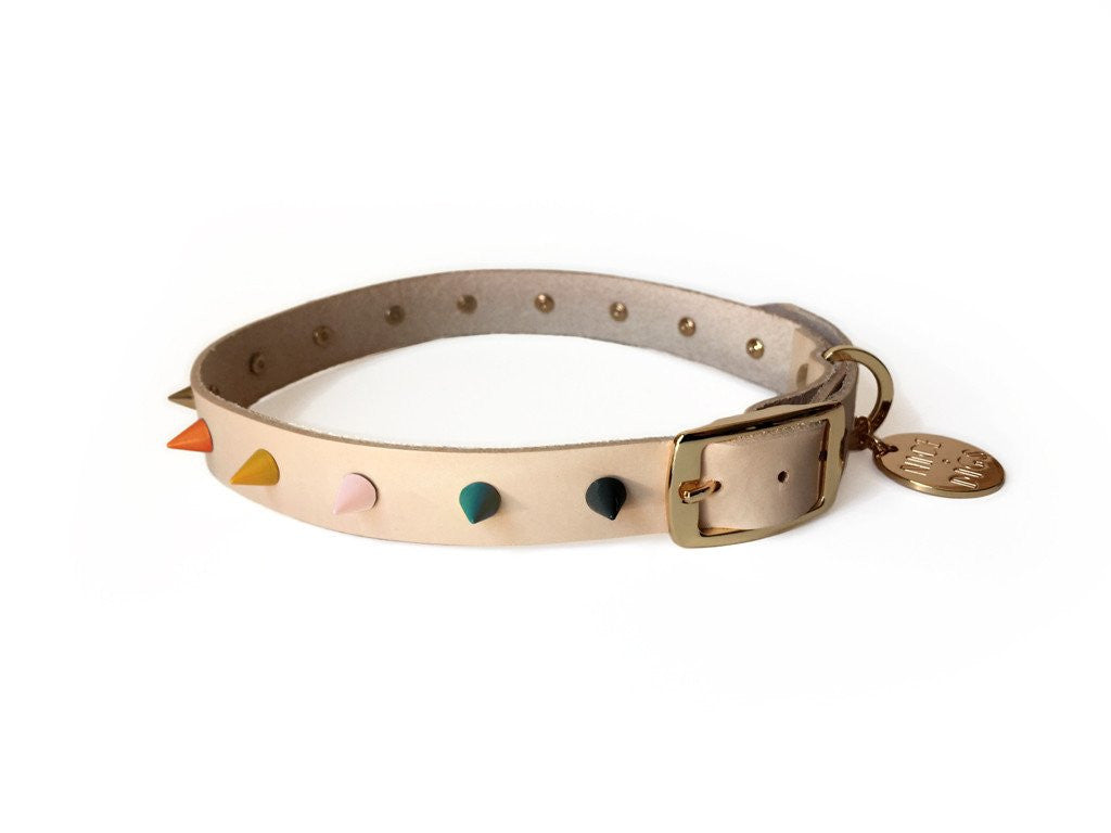 spike leather dog collar jaded rose nice digs | pipe and row