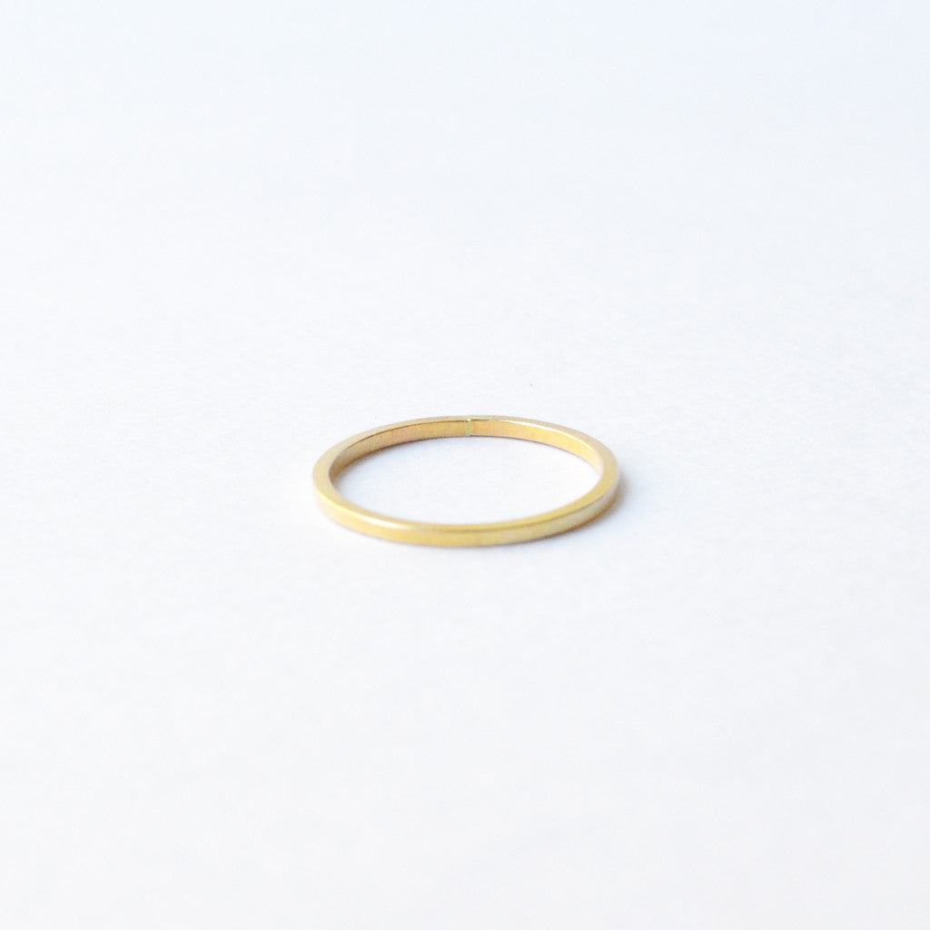 FRESH TANGERINE SQUARE STACKING RING GOLD JEWLERY | PIPE AND ROW