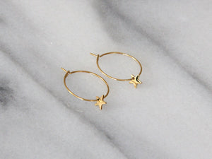 star hoop earrings gold seoul little maive | pipe and row