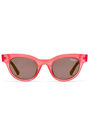cat eye star struck pink sunglasses smoke lens quay | pipe and row