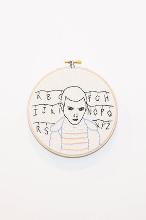 koe-zee stranger things eleven embroidery hoop | pipe and row boutique