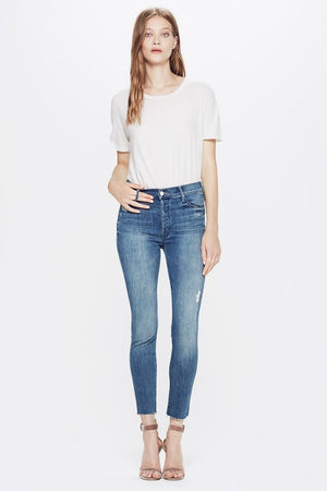 stunner ankle fray graffiti girl mother denim | pipe and row
