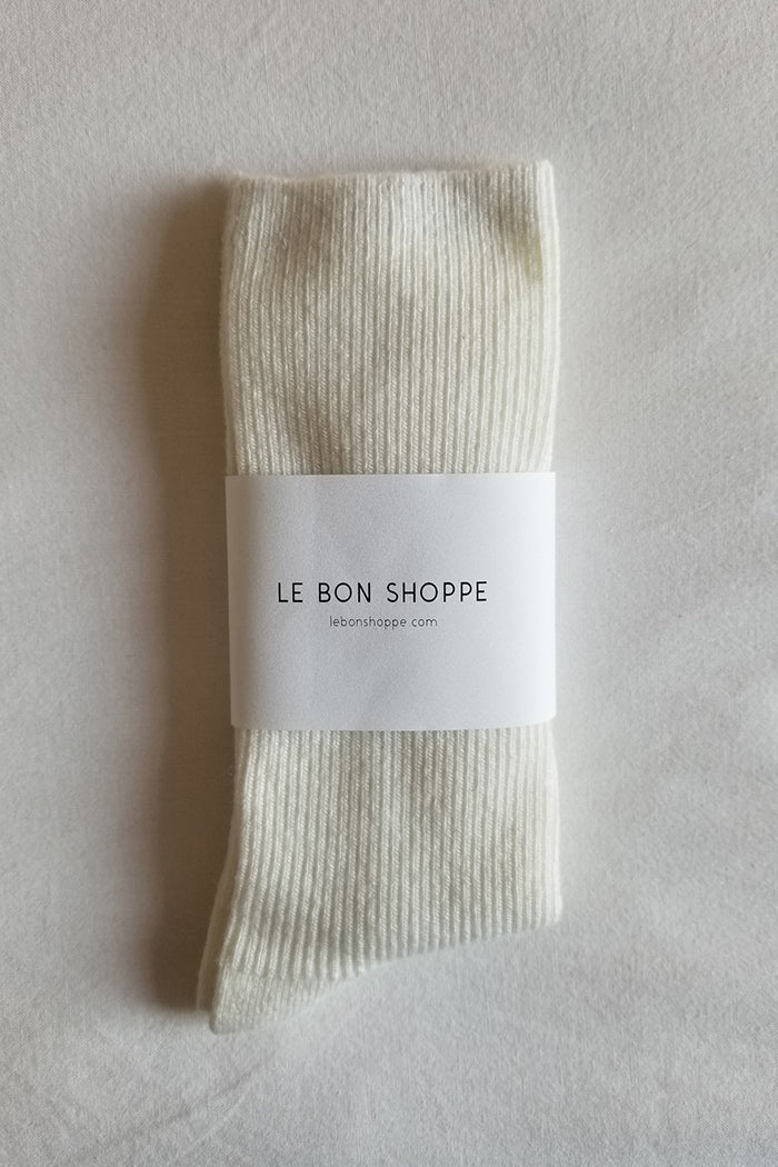 Le Bon Shoppe Grandpa socks sugar cashmere wool | PIPE AND ROW