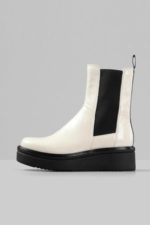 Vagabond plaster patent off white Tara boots grunge 90's | pipe and row
