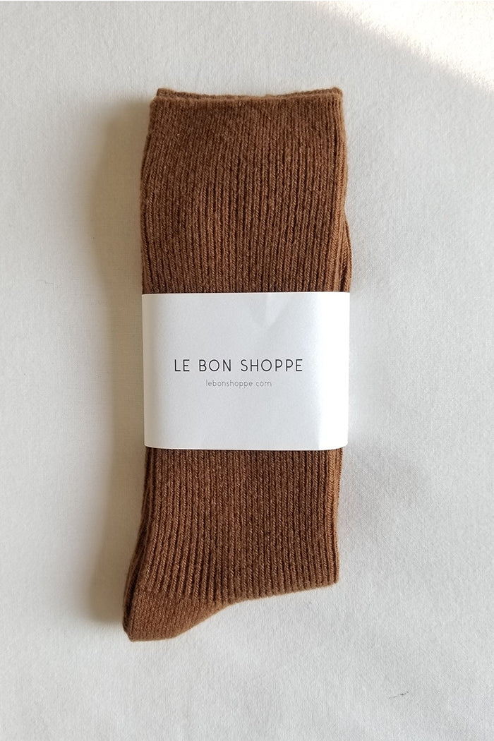 Le Bon Shoppe Grandpa socks tawny brown camel cashmere wool | PIPE AND ROW