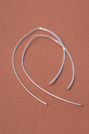 Large teardrop hoops sterling silver | PIPE AND ROW