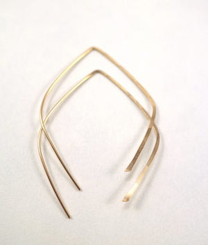 Mini teardrop hoops 14k gold fill | PIPE AND ROW