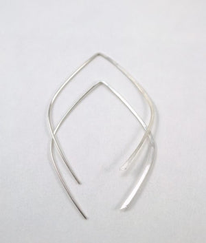 Mini teardrop hoops silver | PIPE AND ROW