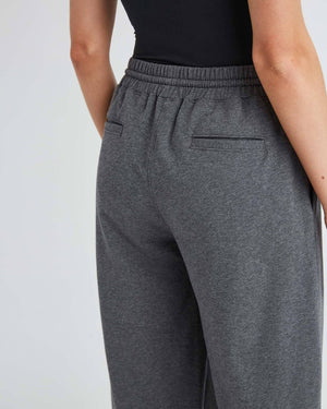 TERRY WIDE LEG PANT CHARCOAL