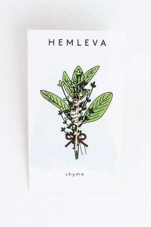 Thyme plant pin hemleva | pipe and row