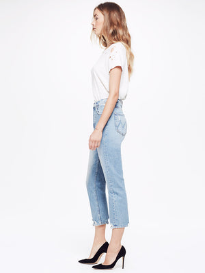 tomcat high waist true confessions jeans mother denim | pipe and row