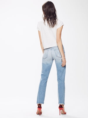 light wash summer jeans quite contrary mother denim | pipe and row