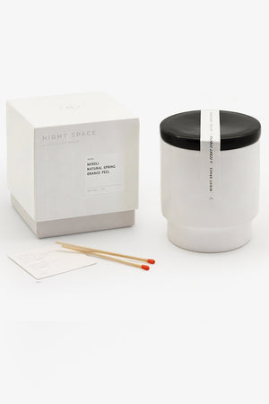 Night Space True Black neroli modern candle | Pipe and Row