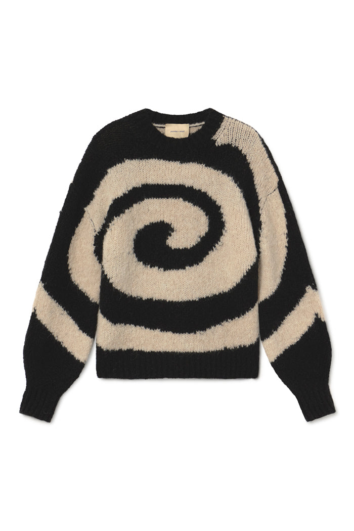 Paloma Wool Twister sweater back white wool alpaca | pipe and row