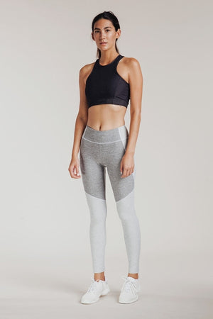 TWO-TONE WARMUP LEGGINGS ASH DOVE